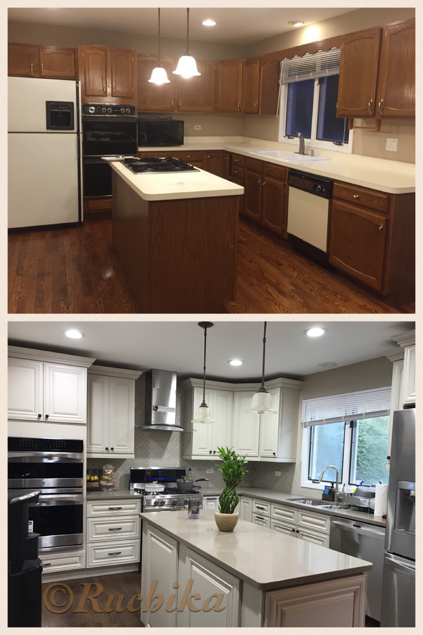 Complete Kitchen Remodel By Me... Classic Ivory, Quartz