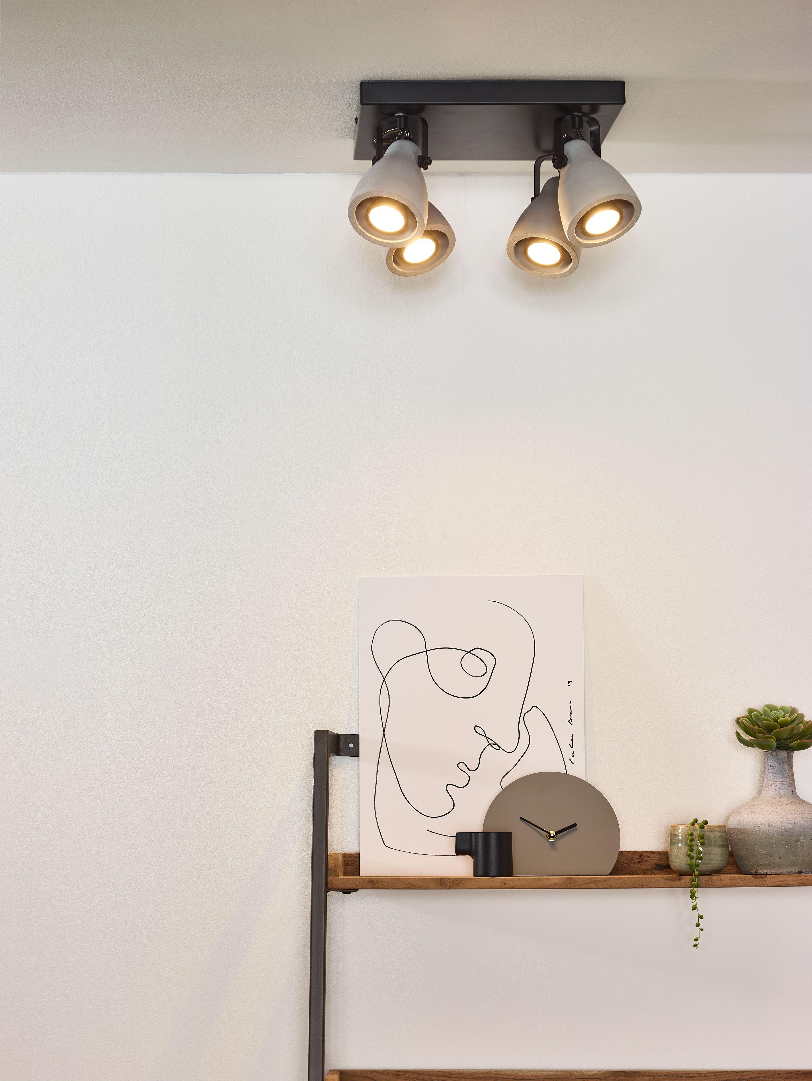 Lucide Concri Led Ceiling Spotlight O 9 Cm Led Dim Gu10 4x5w 3000k Black Ceiling Spotlights Led Ceiling Led Dimmer