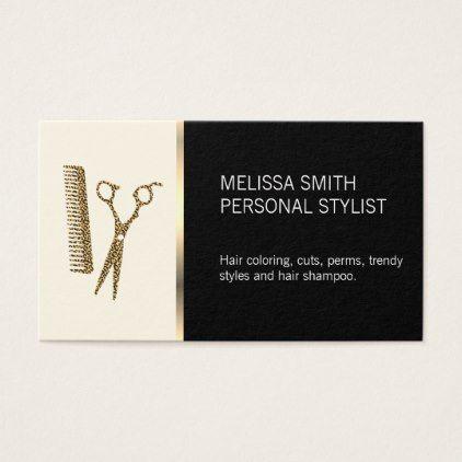 Elegant Hairstylist Business Card Zazzle Com Hairstylist Business Cards Stylist Business Cards Business Cards Hair Salon