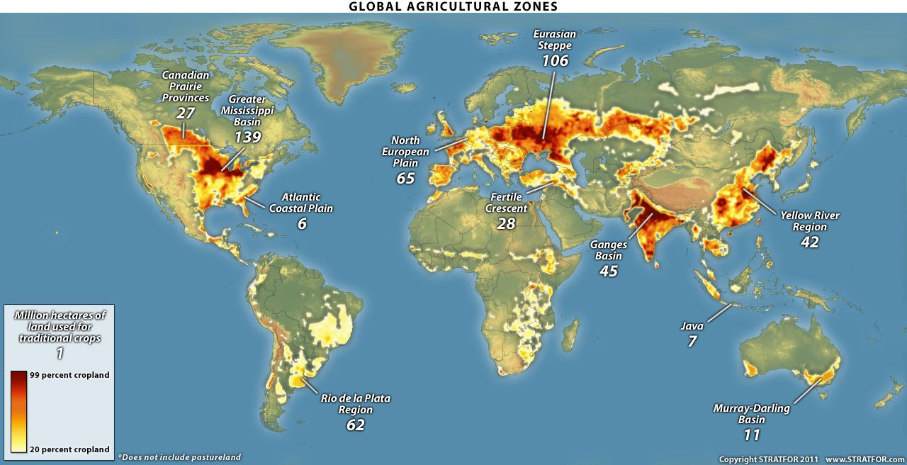 Global Agricultural Zones Maps Pinterest United States - Agricultural Land Us Map