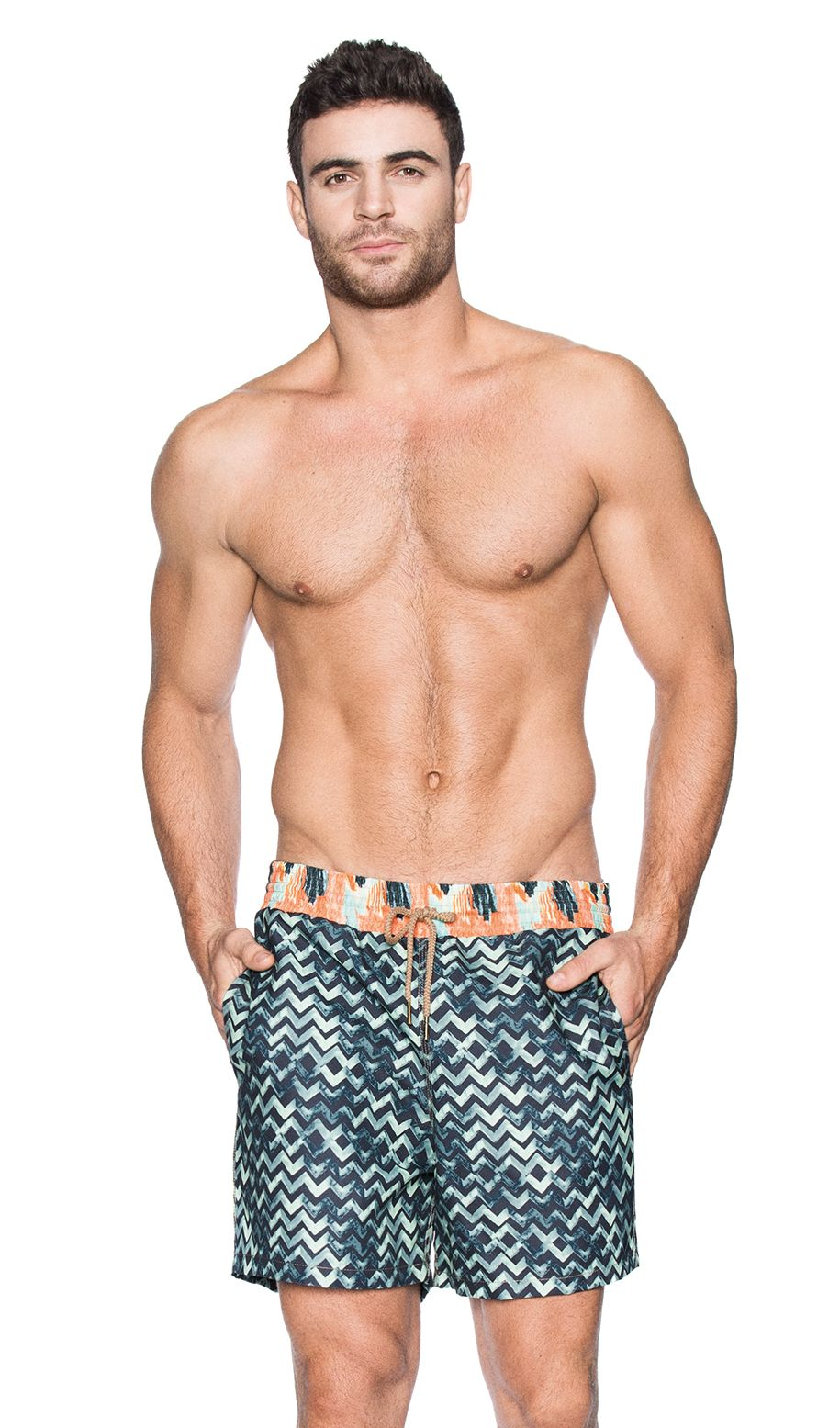 f2e8f67719 Maaji Men Swim Trunks brings you it's CLASSIC CUT Short Surreal Chevron  (1017TSH)
