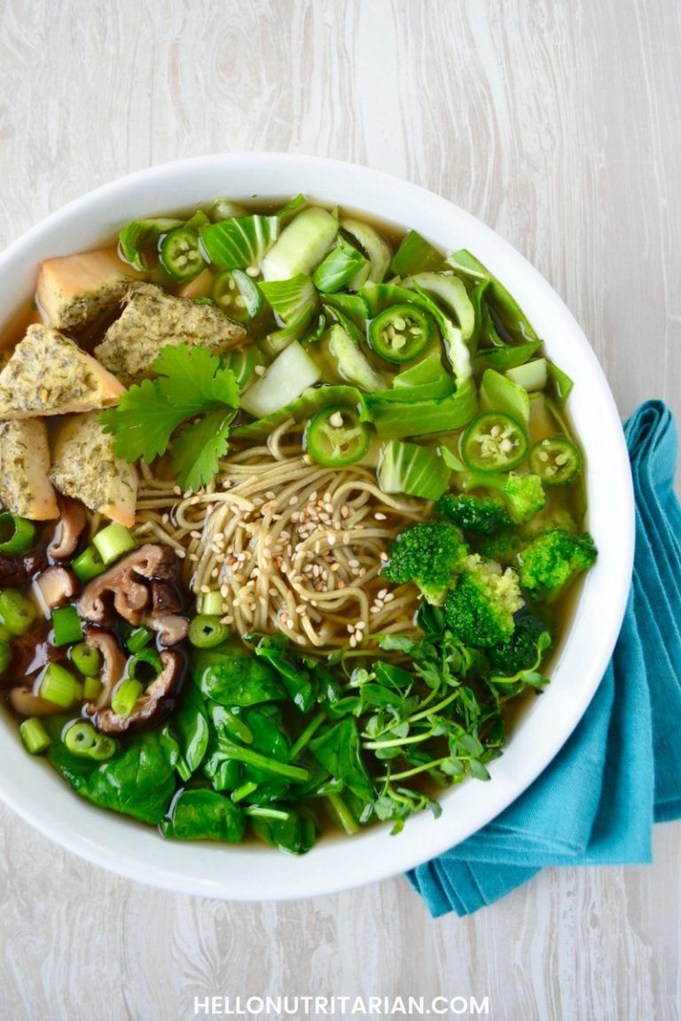 Nutritarian Pho Noodle Soup