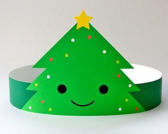 Christmas Party Hats For Kids Adults Christmas Paper Etsy In 2020 Christmas Party Hats Christmas Paper Christmas Party Activities