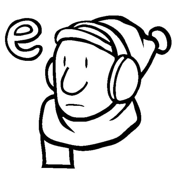 Learn Letter E Is For Earmuffs Coloring Page Best Place To Color In 2020 Coloring Pages Learning Letters Letter E