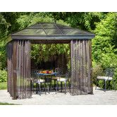 10 Ft W X 14 Ft D Aluminum Patio Gazebo Outdoor Pergola Patio