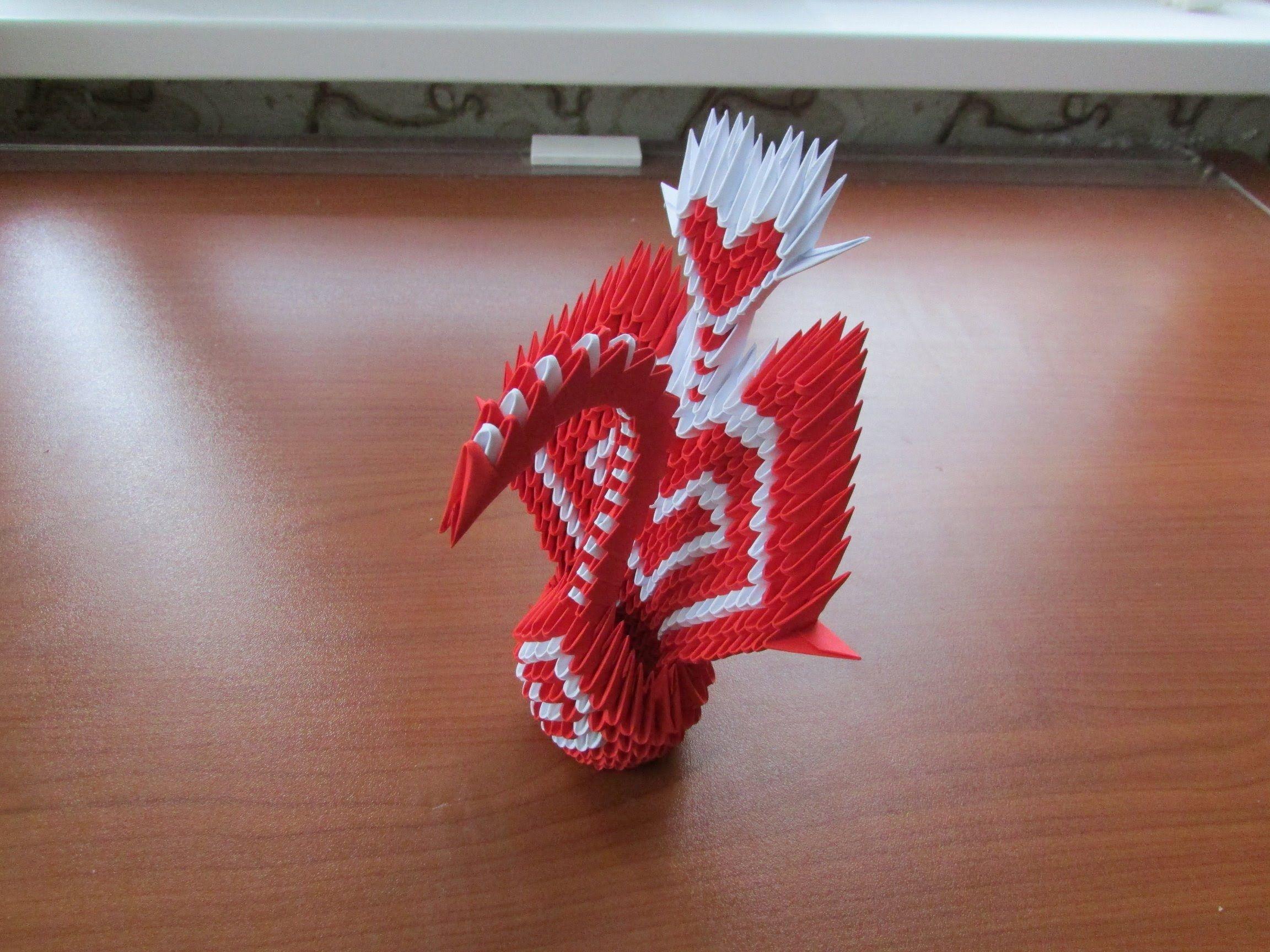 Origami Mini Peacock, #3D ART Work..! Torquoise n yellow adds ... | 1728x2304