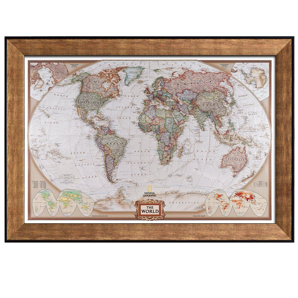 Amazon wall26 colorful national geographic antique world map amazon wall26 colorful national geographic antique world map framed art prints gumiabroncs Image collections