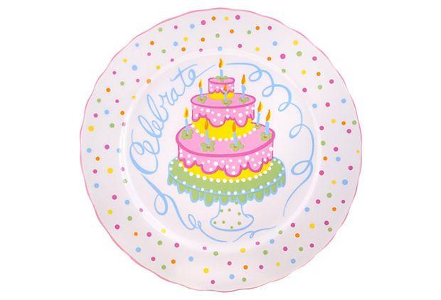 Set of 4 Celebrate Dessert Plates on OneKingsLane.com