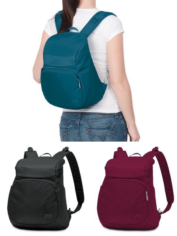 The Tech Savvy Woman Can Enjoy Peace Of Mind With This Anti Theft Compact Backpack That Fits An 11in Macbook Has A Smart Rear Zippered Opening For Extra