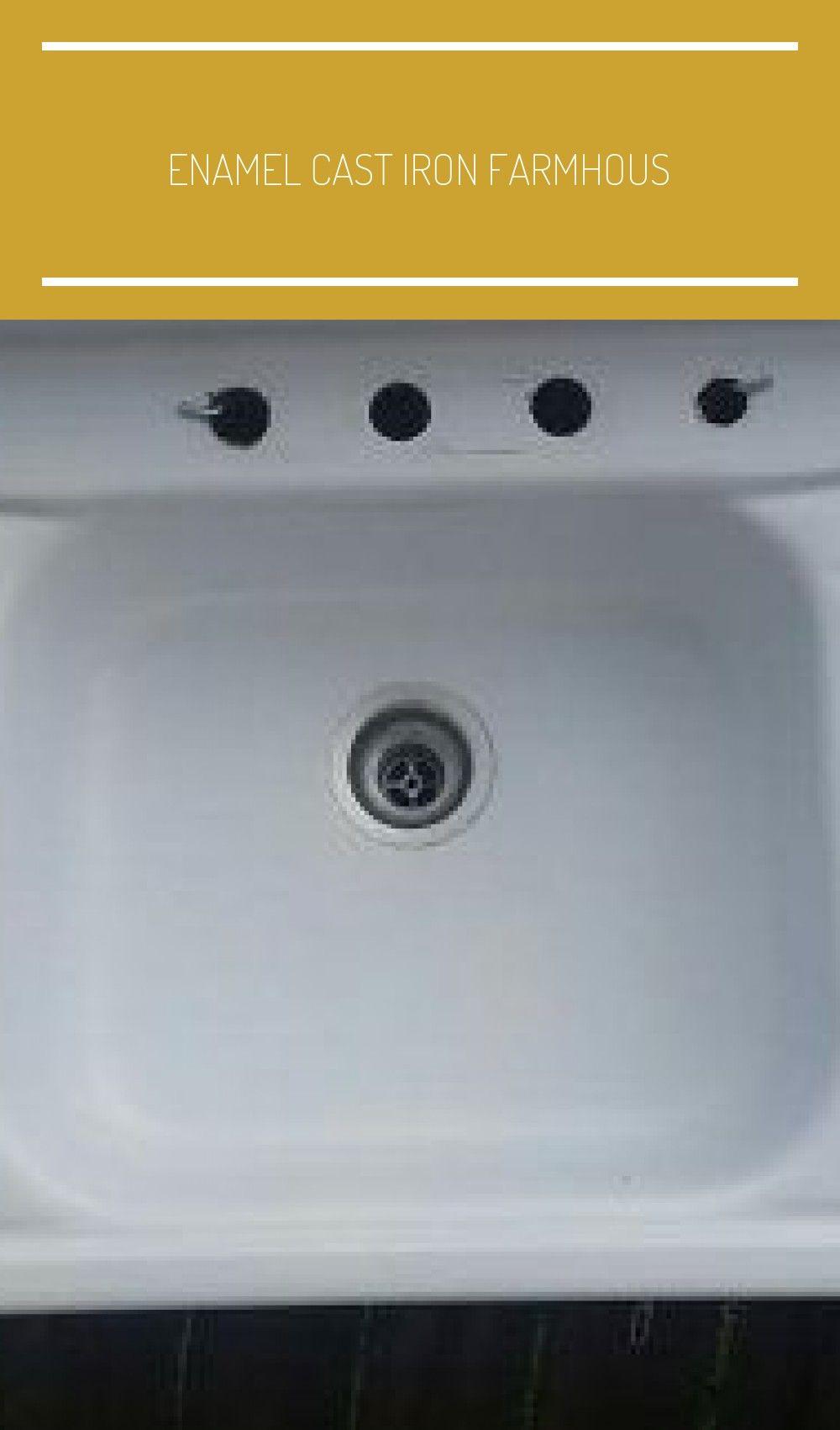 Enamel Cast Iron Farmhouse Sink Kitchen Sink With Drainboard