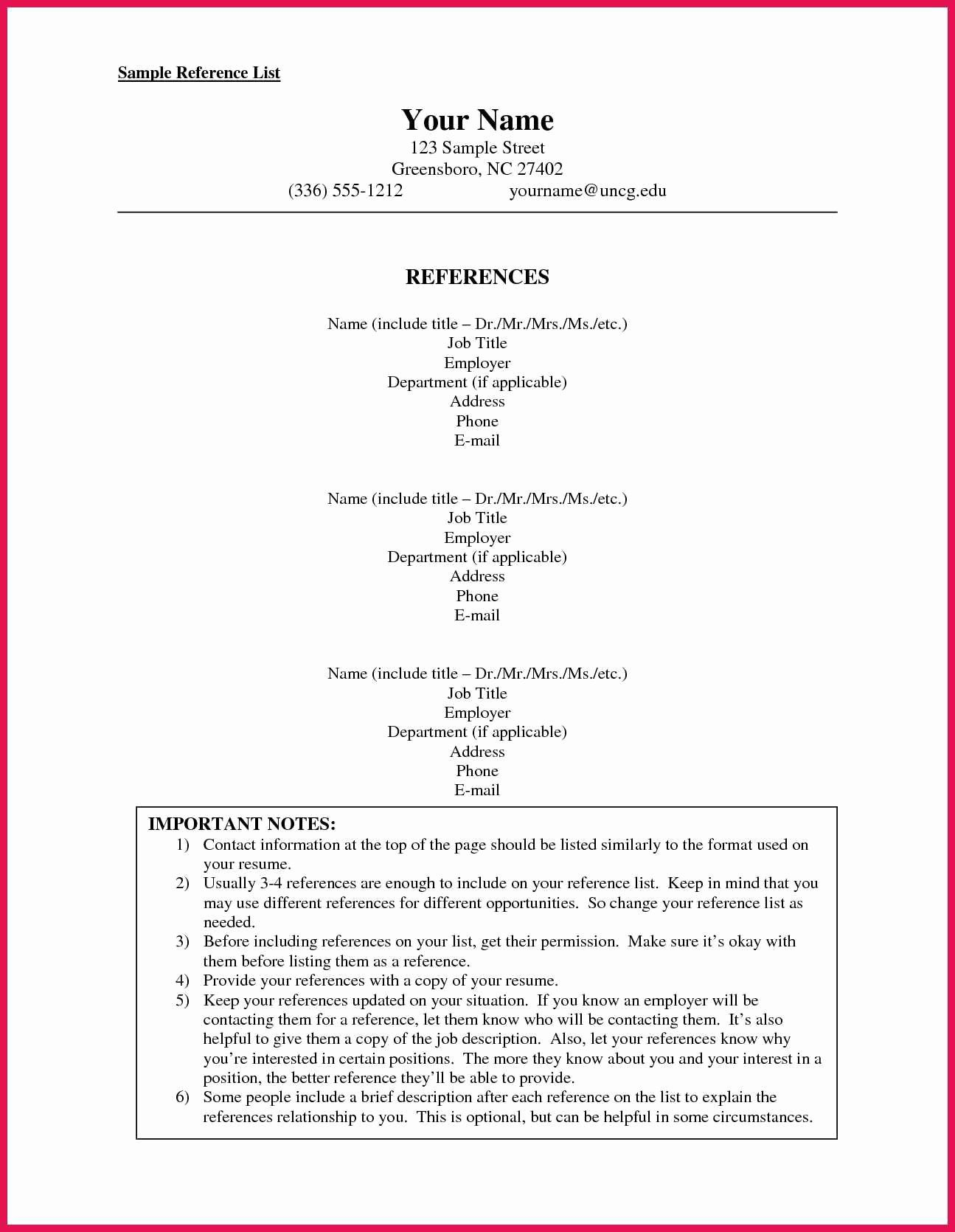 Resume References Format Beautiful How To Format A Reference List