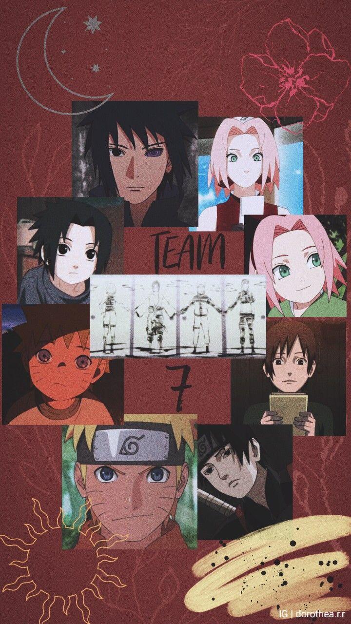 Naruto Team 7 Aesthetic Wallpaper Naruto Team 7 Anime Wallpaper Team 7