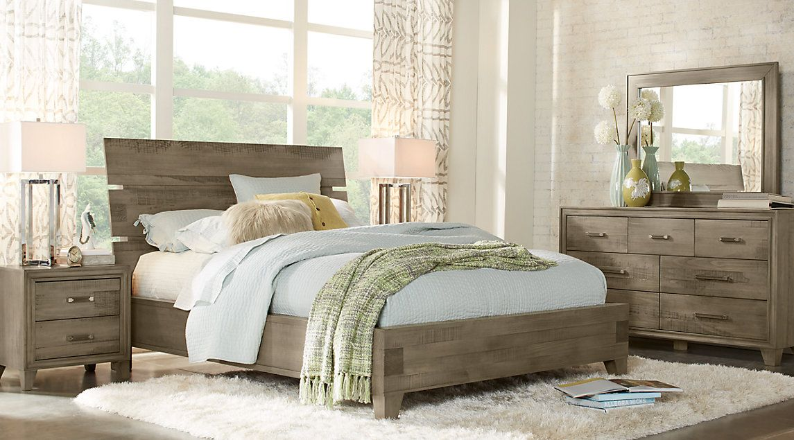 Crestwood Creek Gray 5 Pc Queen Panel Bedroom Roomstogo
