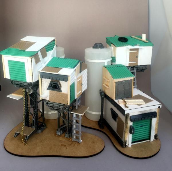 Warhammer 40k diy model miniature diorama basis | war game