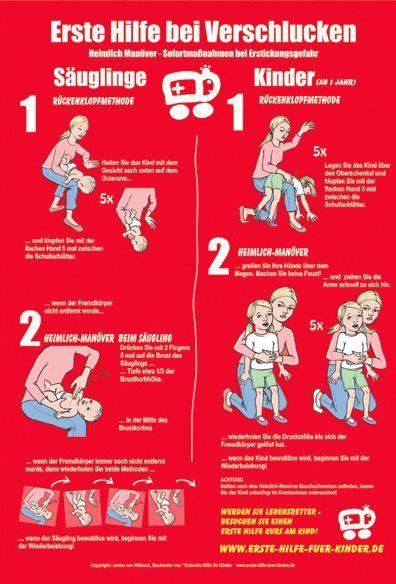 1. Hilfe bei Verschlucken