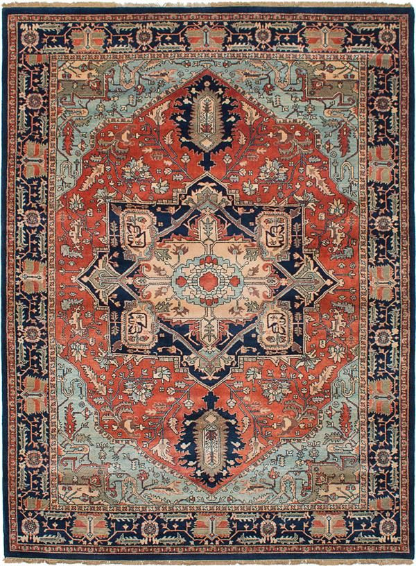 Hand-knotted Jules-Sultane Dark Copper Wool Rug