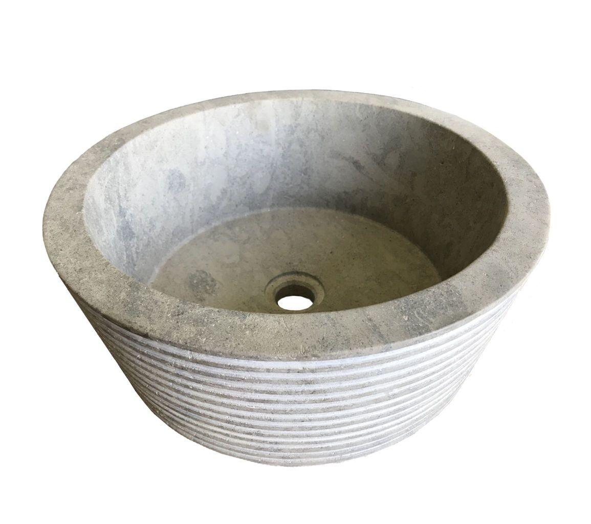 Vasque en pierre naturelle gris Idéal pour aménager une salle de