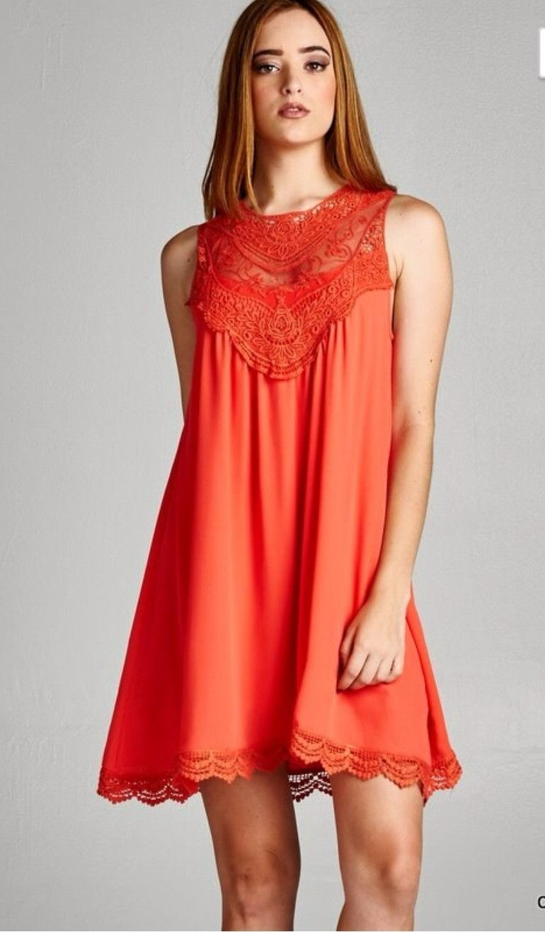 Orange dress casual  Pumpkin Lace Dress  My style  Pinterest  Dresses Lace Dress and Lace