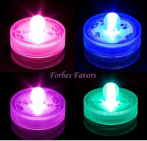 40 LED Waterproof Submersible Lights for Centerpiece Wedding