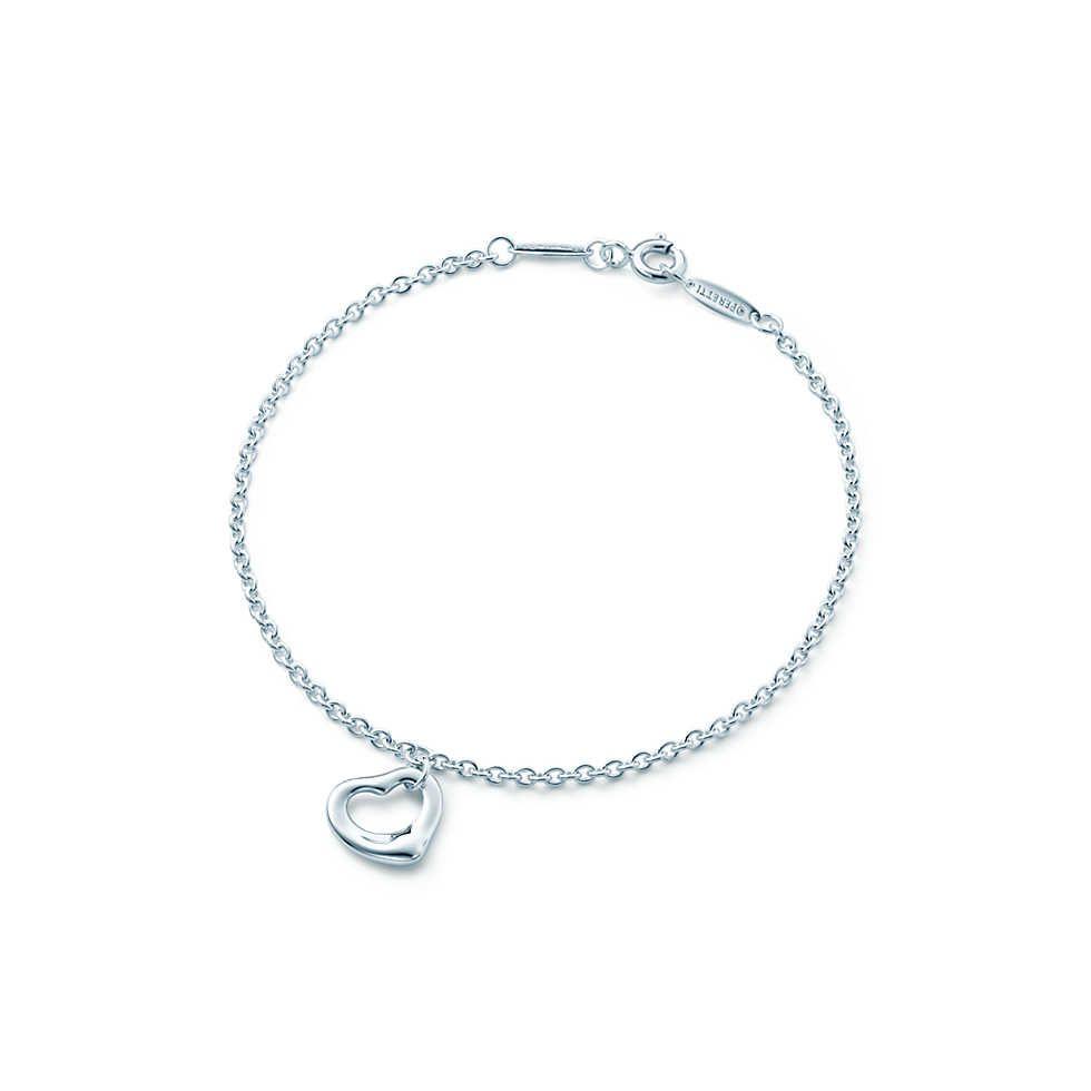 Elsa Peretti® Open Heart bracelet in sterling silver. | Tiffany & Co.