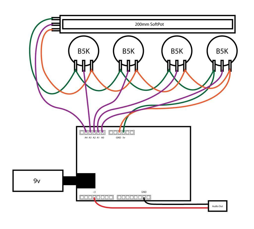 Synthesizer Wiring Diagram How To Build An Arduino Synth Technology In 2018 Pinterest