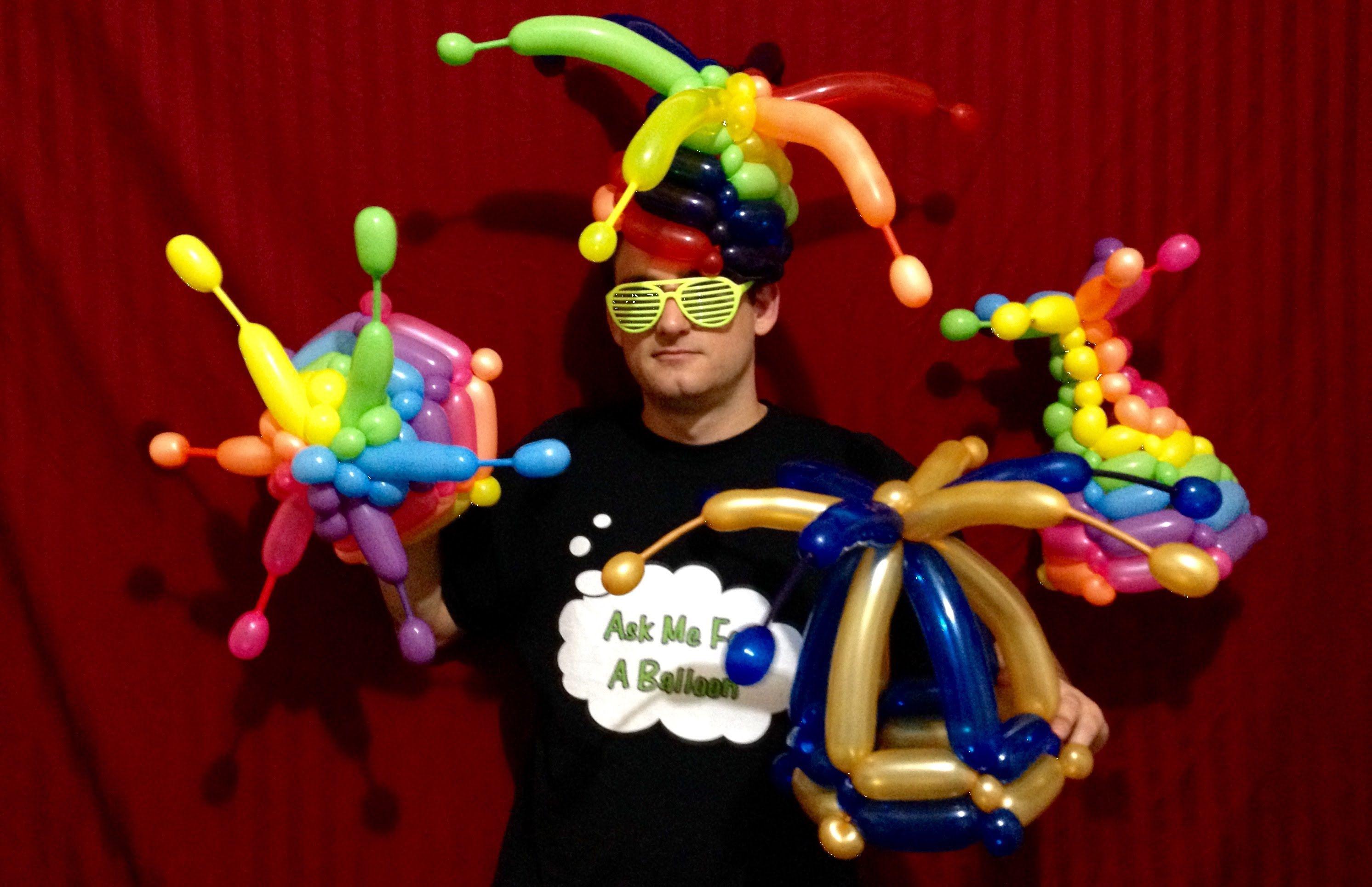 Deluxe Rainbow Balloon Jester Hats!