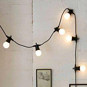 20er LED Party Lichterkette warmweiß Strombetrieb 5m koppelbar Batterie Solarbetrieb möglich Typ U Lights4fun