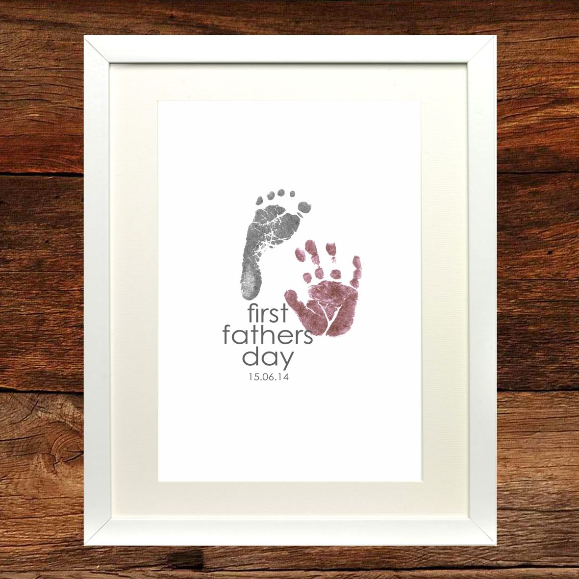 First Time Fathers Day Gifts Part - 28: Personalized Fatheru0027s Day Gifts From The Kids: First Fathers Day Art Print  By Niko And Lily At Etsy | Fathers Day | Pinterest | Father, Etsy And  Printing
