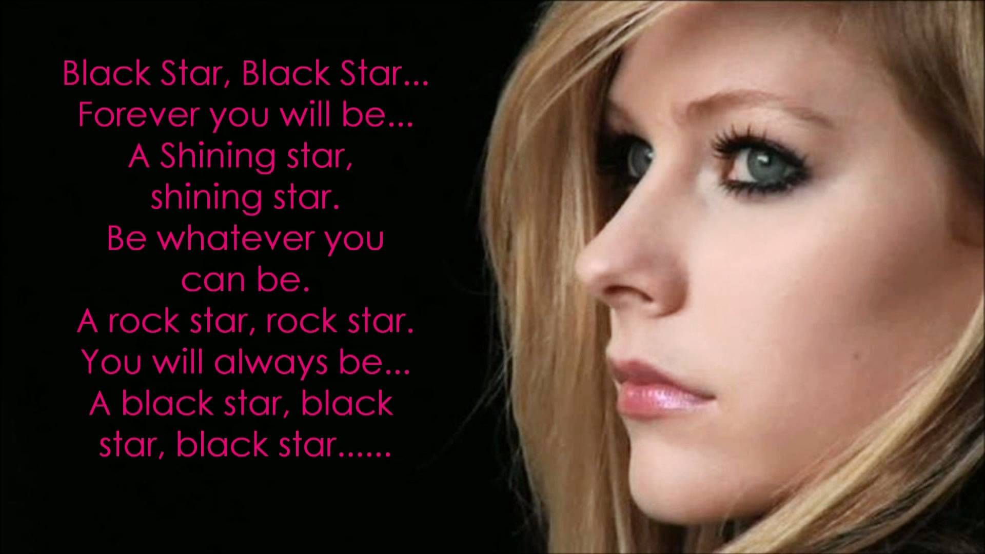 Avril Lavigne Black Star Lyrics (+playlist) (With images