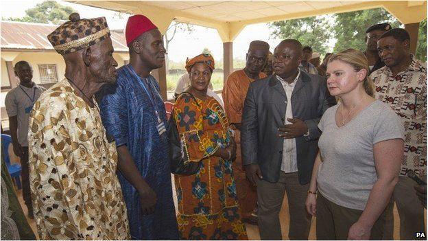 Ebola outbreak: £2.5m UK grant to help children Justine Greening meets officials in Sierra Leone