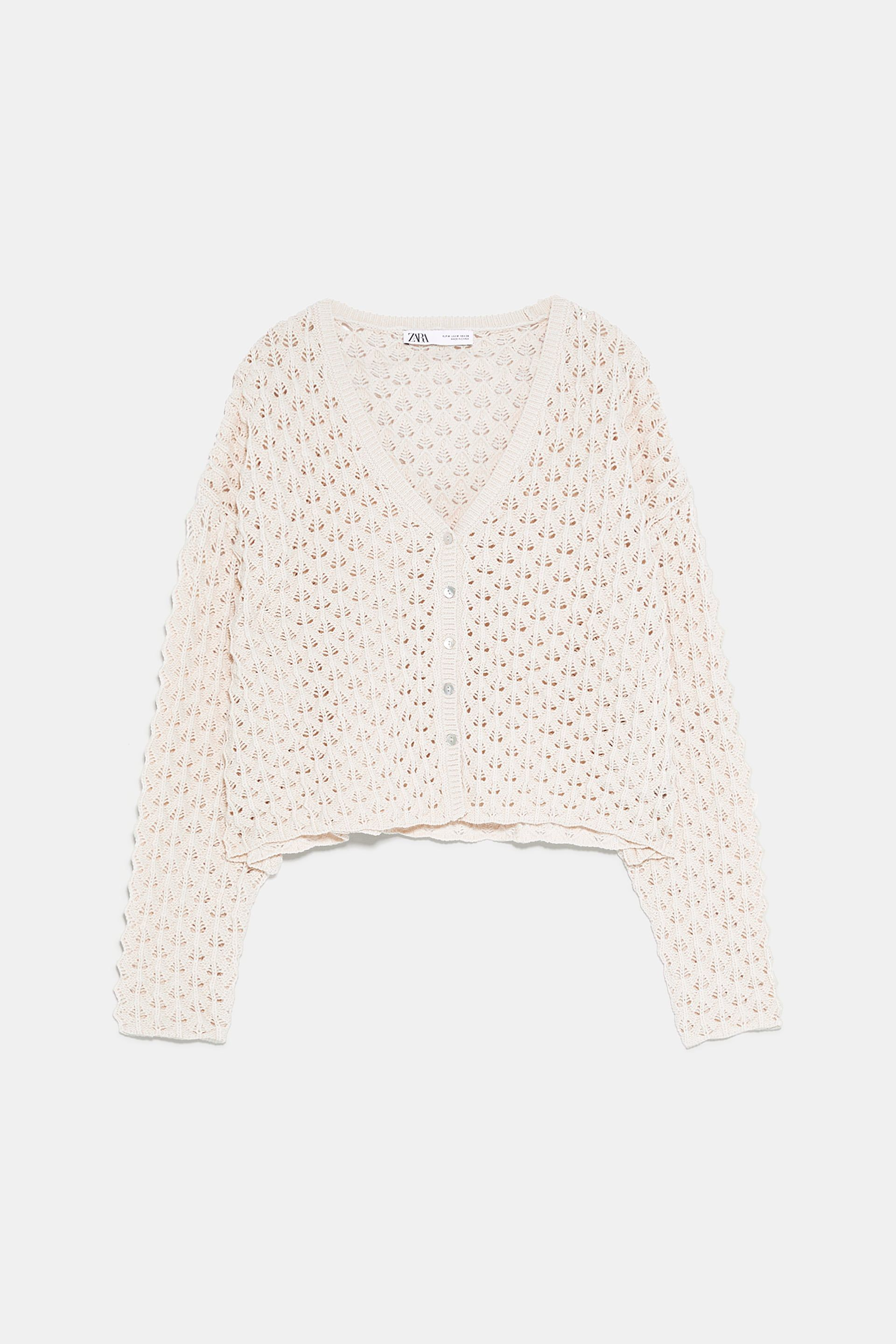 882fc03969 Textured openwork cardigan in 2019 | SHOP Staygold Stories | Knit ...