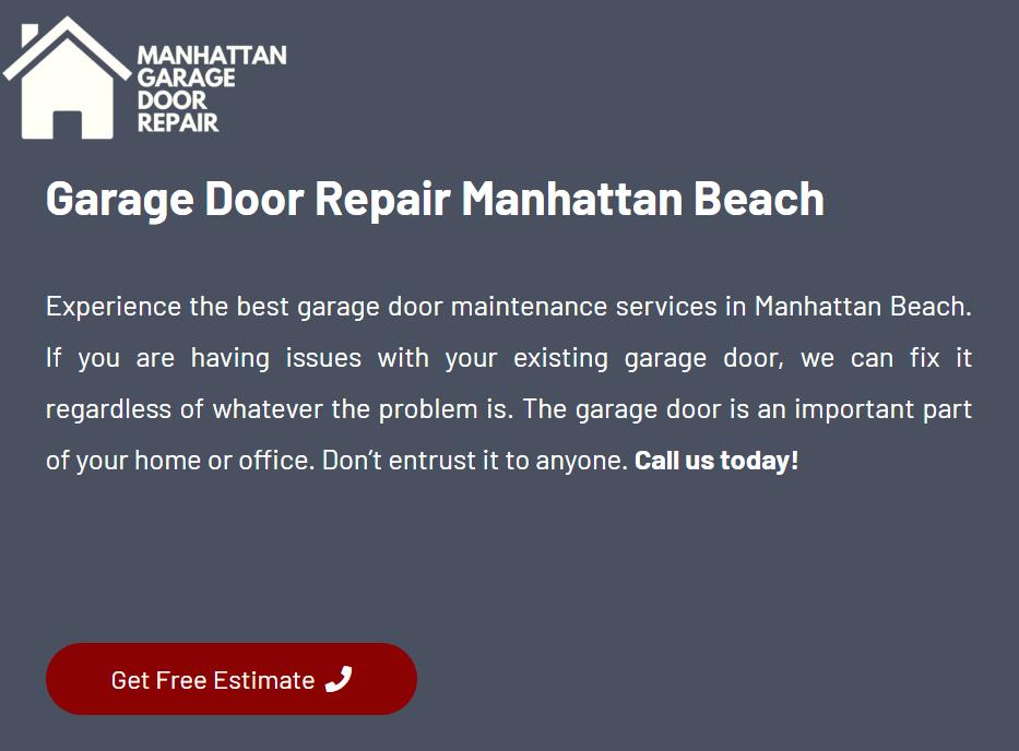 Garage Door Repair In Manhattan Beach In 2020 Door Repair Garage Door Repair Manhattan Beach