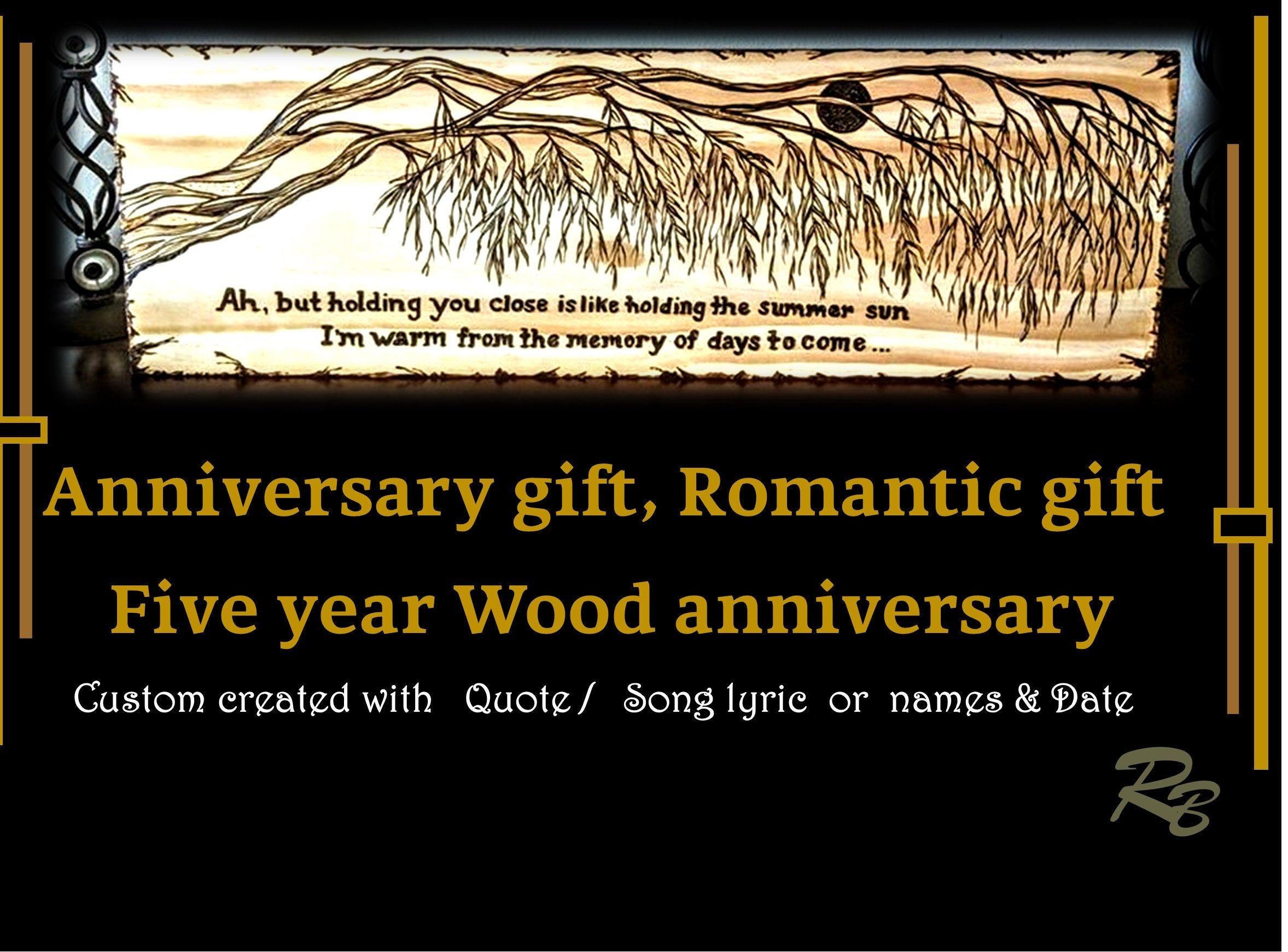 song quote, gift, wood anniversary gift,song lyric,Wedding