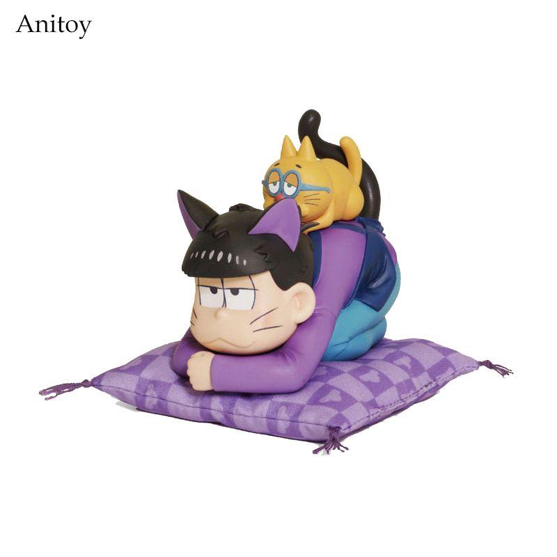 Anime Cartoon Osomatsu-San Matsuno Ichiko & ESPA Cat PVC Figure Collectible Model Toy 8.5cm KT3951 #Affiliate
