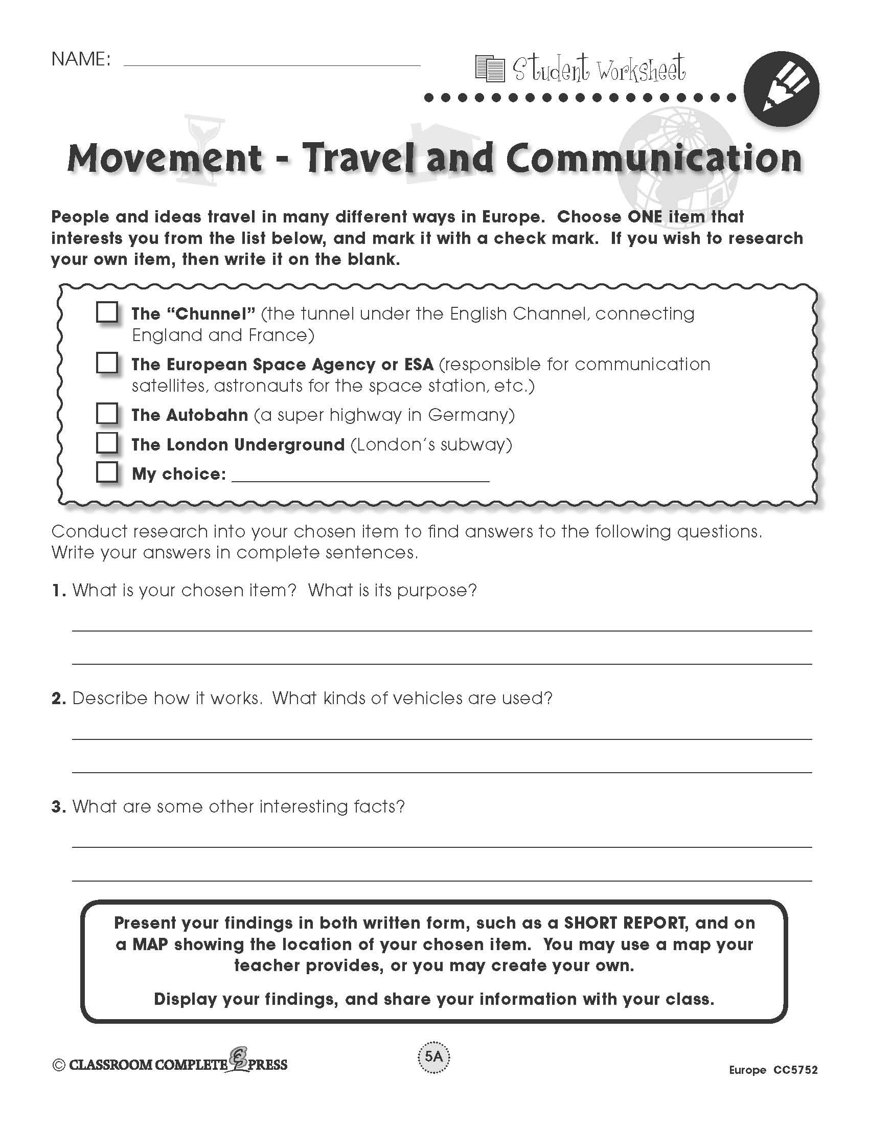 Research travel and communication in europe with this free activity research travel and communication in europe with this free activity from ccp interactive a division gumiabroncs Choice Image