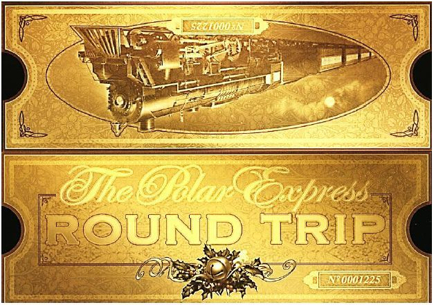 It's just a graphic of Modest Polar Express Golden Ticket Printable