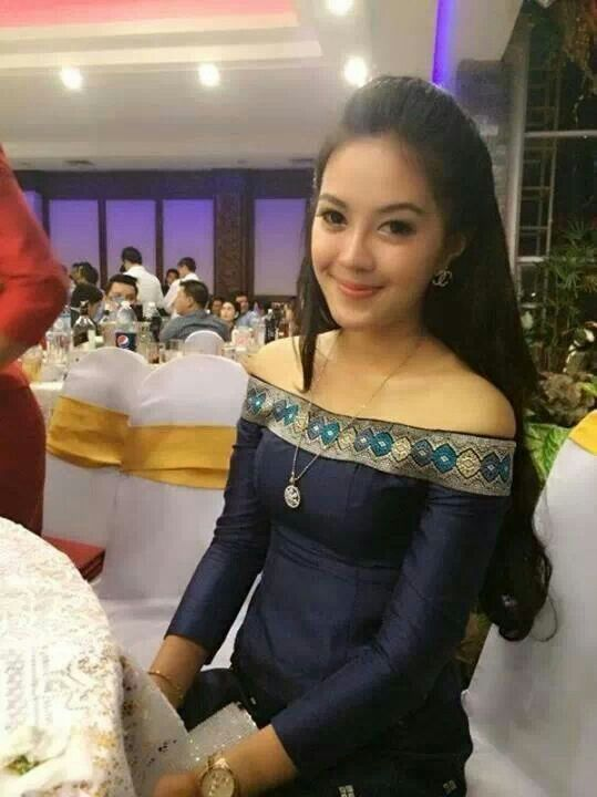 Laos traditional clothing traditional fashion for Cambodian wedding dresses sale