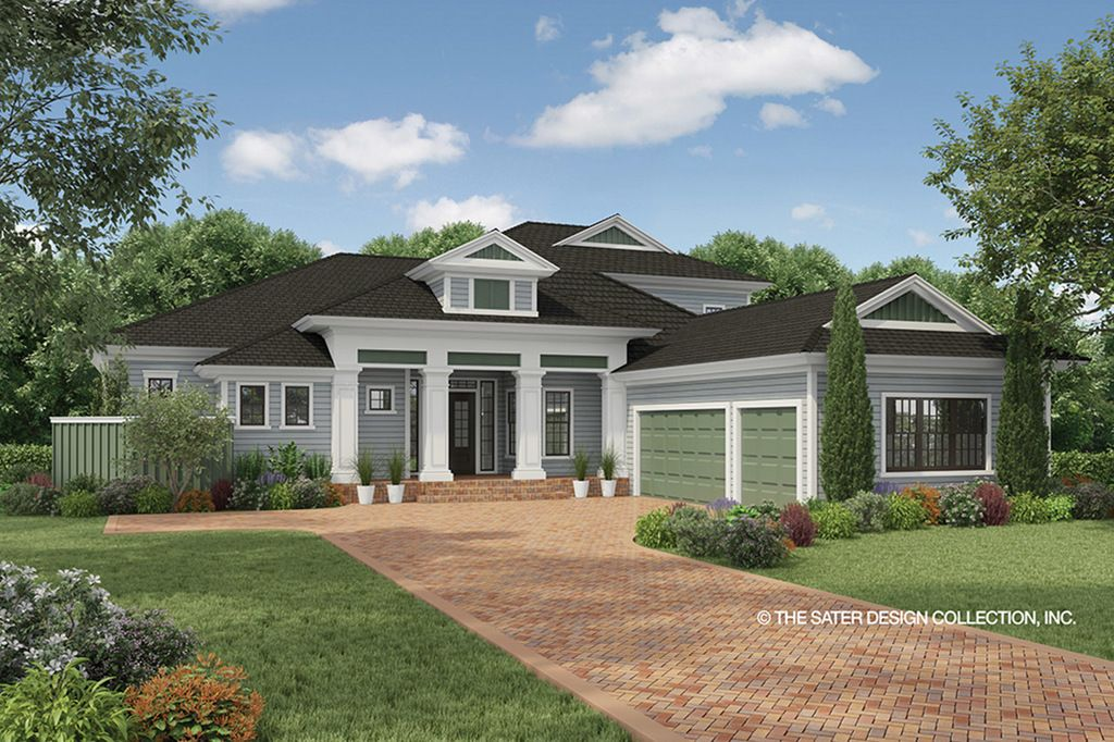 This country design floor plan is 3397 sq ft and has 3 ... on