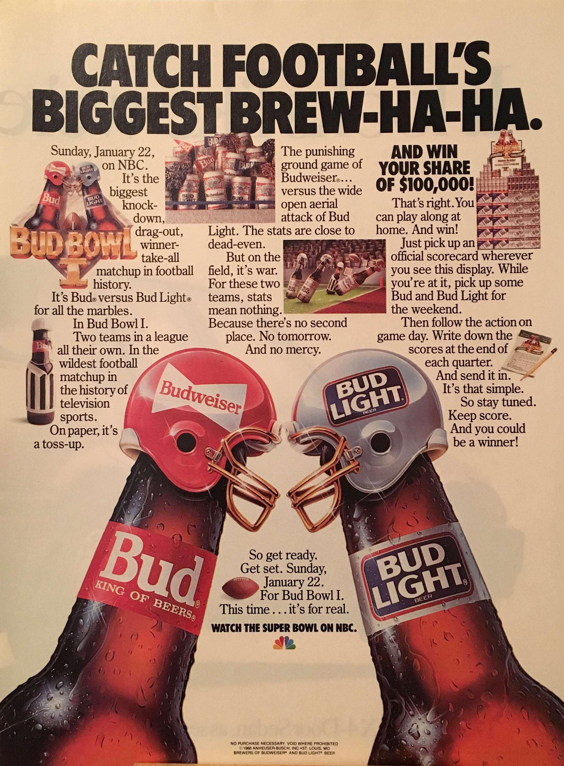 Bud/Bud Light #vintageads #Ads #vintage #PrintAd #tvads #advertising