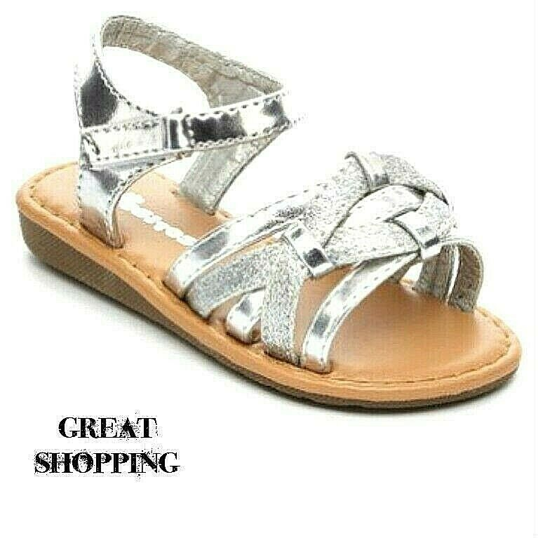 Baby Toddler Girls Silver Sandals Size