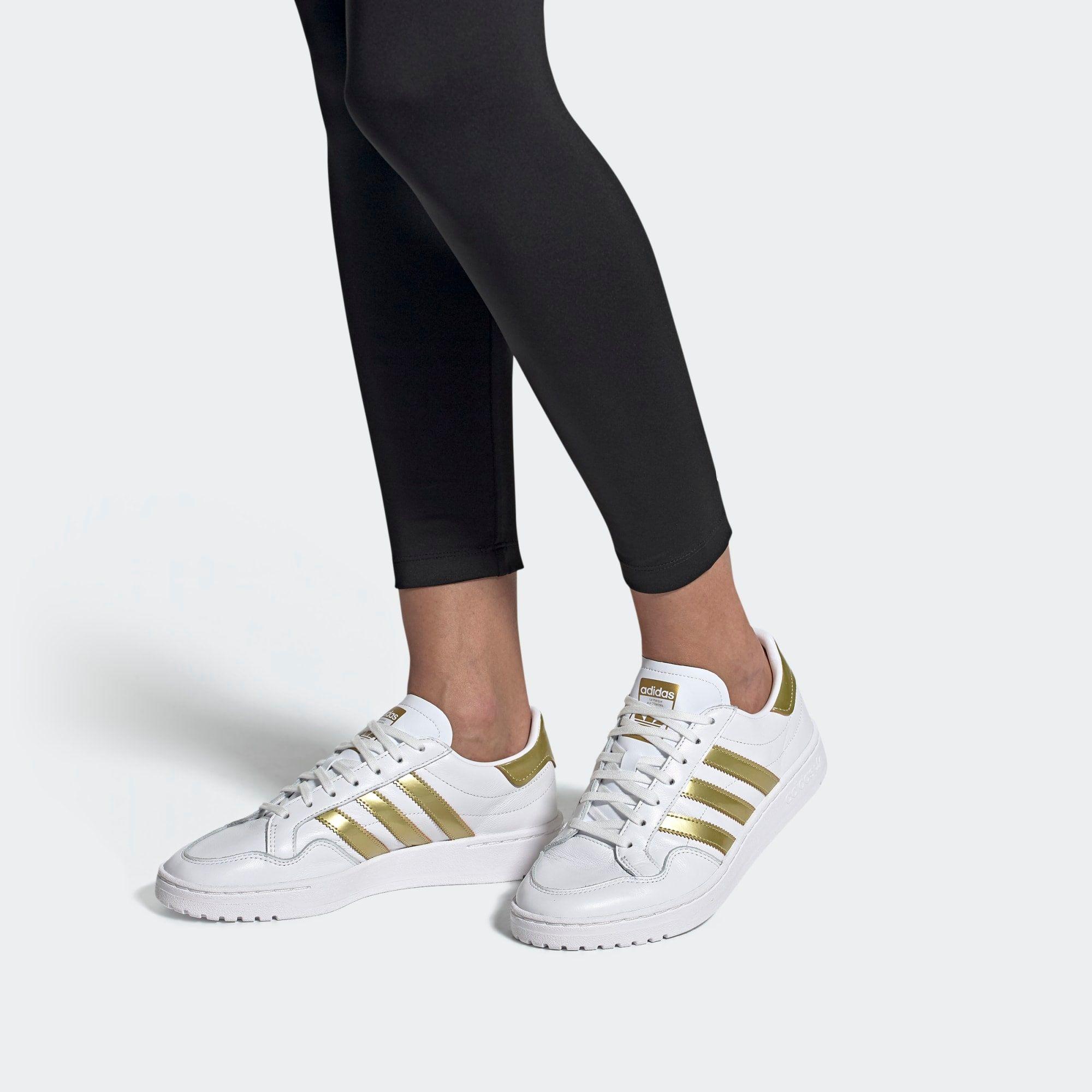 ADIDAS ORIGINALS Sneaker 'Modern court' Damen, Weiß / Gold ...