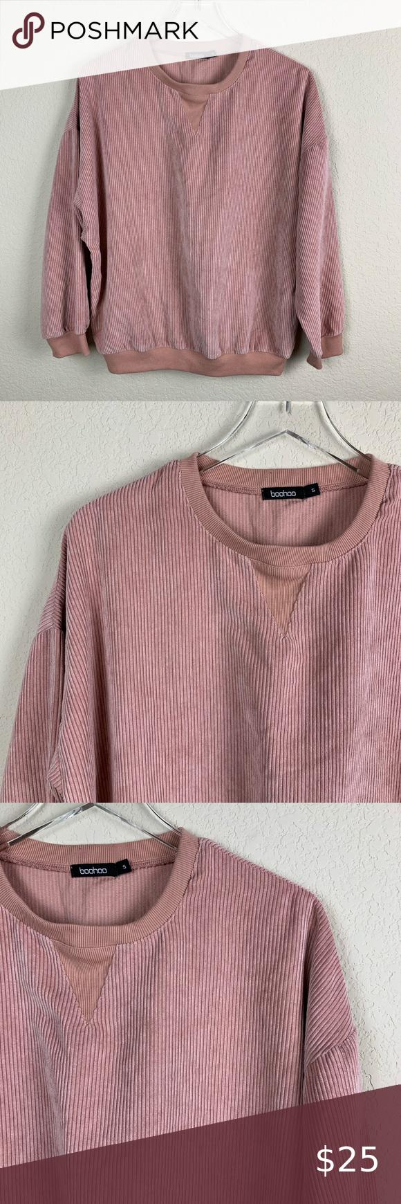 Boohoo Peach Blush Corduroy Pullover Sweatshirt Pullover Sweatshirt Boohoo Tops Sweatshirts [ 1740 x 580 Pixel ]
