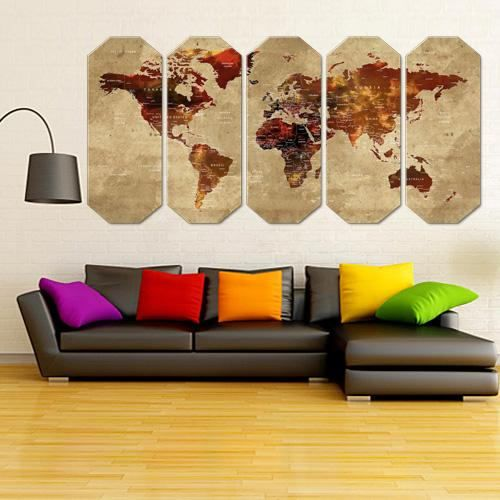 Custom world map extra large wall art world map canvas world map custom world map extra large wall art world map canvas world map wall art free shipping office decoration home decoration brown walls canvases and gumiabroncs Image collections