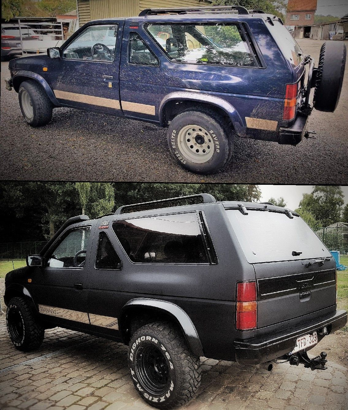 Pin by Rob on auto paint Nissan terrano, Bedliner paint