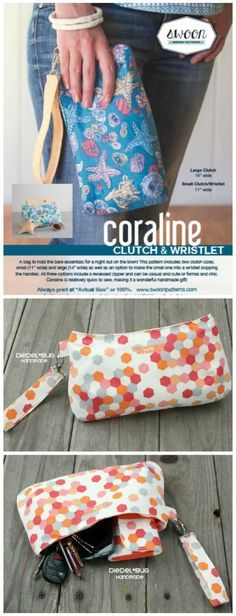 Full video tutorial on how to sew the Coraline Clutch Bag. This has a slightly curved inset top zipper and I thought it was going to eb hard. Not with this video - it's really easy!