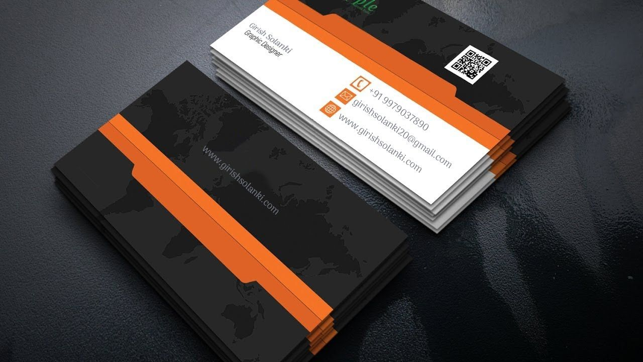 Modern Business Card Design In Illustrator Cc Clean Modern Business C Printing Business Cards Make Business Cards Business Card Photoshop