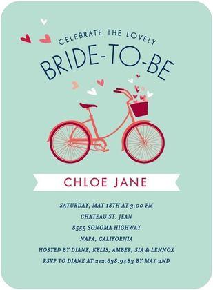 Bridal bicycle signature white bridal shower invitations in stormy bridal bicycle signature white bridal shower invitations in stormy blue or coral petite alma filmwisefo Choice Image