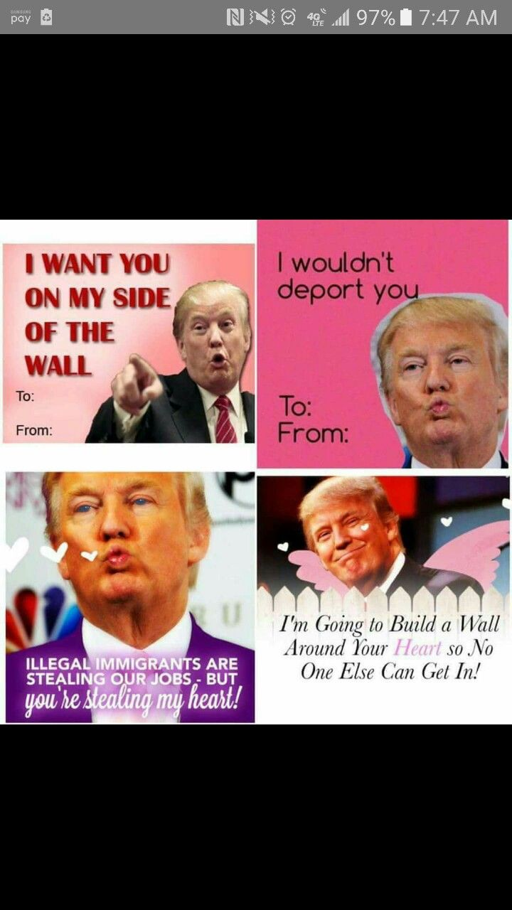 Pin By Sammy Miller On Funny Pinterest Funny Trump Valentines