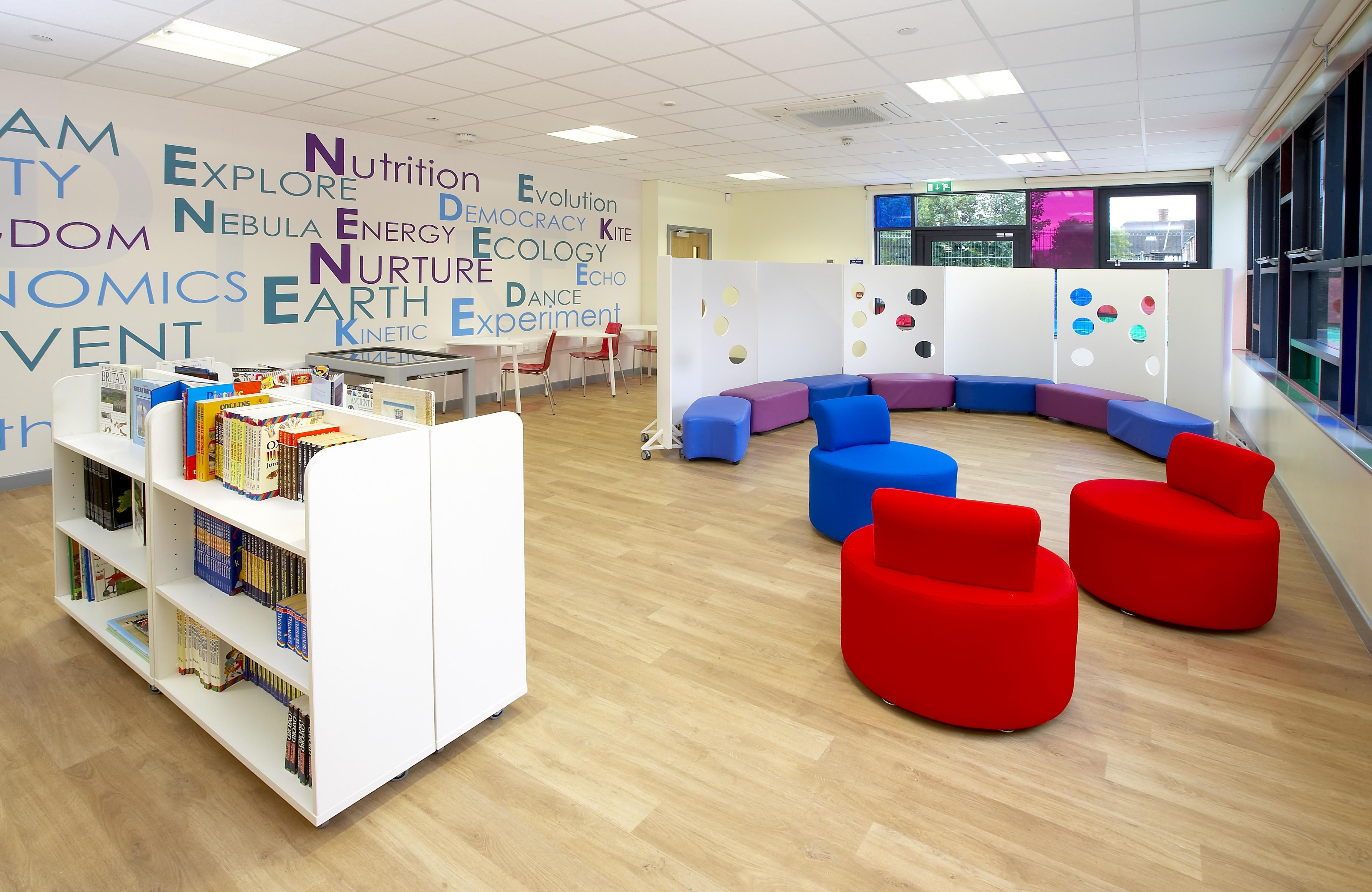 Classroom Library Design : School interior design shows its flair in