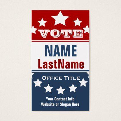 Campaign political template business card colourmoves